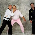 Gene on the cover of Black Belt magazine with martial arts legends Bill Wallace Chuck Norris