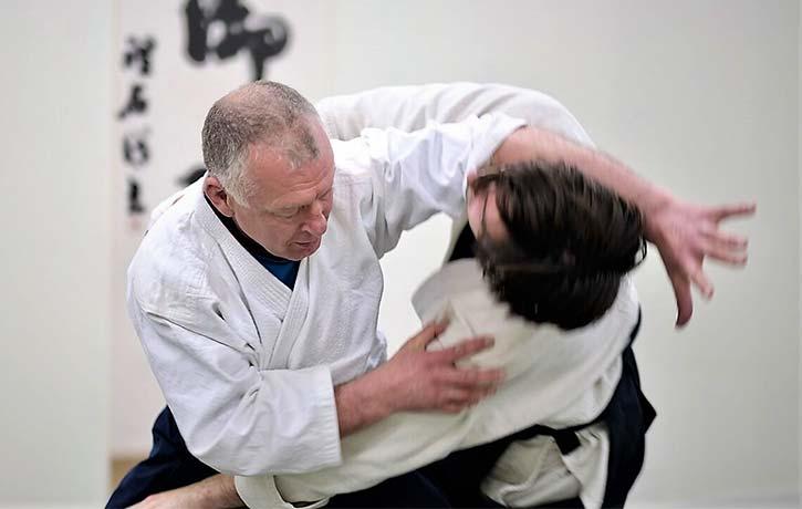 Bruce Bookman Sensei takes down Josh with an Irimi Nage