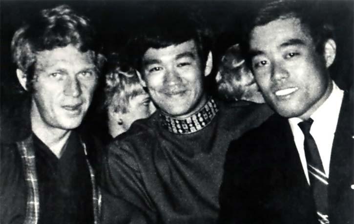 Demura with Bruce Lee Steve McQueen