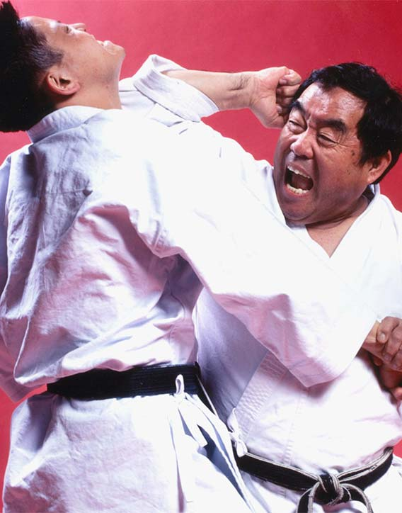 Fumio gives up an elbow