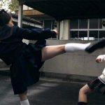 Kei dodges a kick