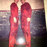 Clayton with Ben Stiller on the set of Zoolander