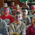 The children learned singing acrobatics martial arts and how to paint their faces