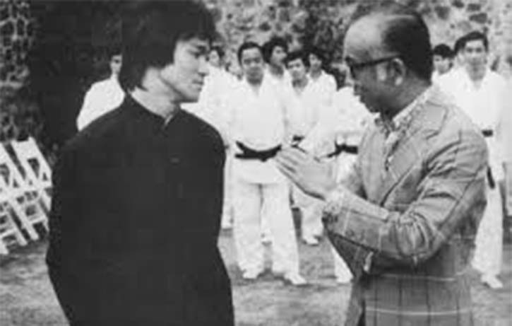Chow co-produced Enter the Dragon visits the set