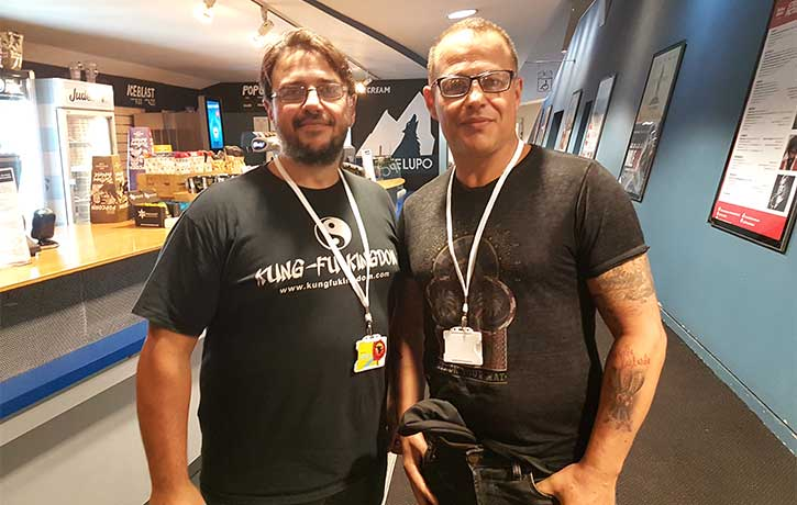 Louis Mandylor with our roving reporter