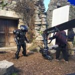 Preparing the films big action sequence with Black Manta