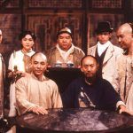 Yen Shi-kwan as Iron Robe Yim takes tea with Wong Fei Hung