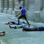 Mirageman cleans up the street