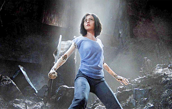 Alita steels herself for battle