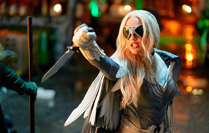 By night Dawn Granger fights crime as the formidable Dove