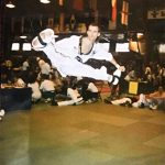 Garrett during his days competing in TKD
