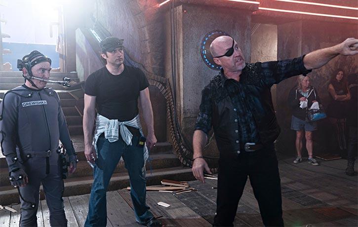 Garrett orchestrates the bar fight in Alita Battle Angel with Robert Rodriguez