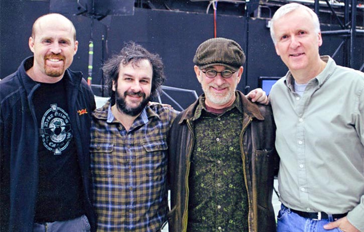 Garrett with Peter Jackson Steven Spielberg and James Cameron