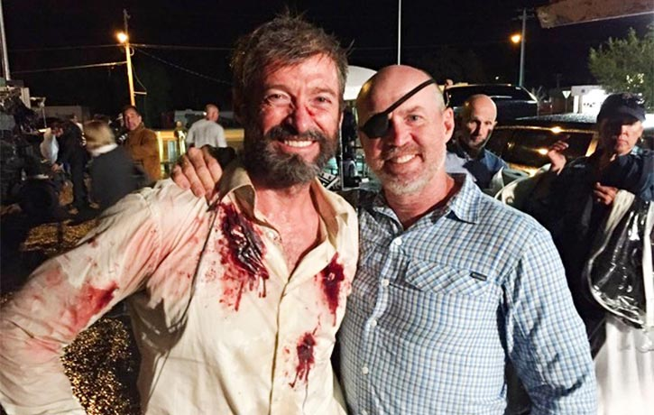 Garrett worked with Hugh Jackman on his final portrayal of Wolverine in 2017s Logan