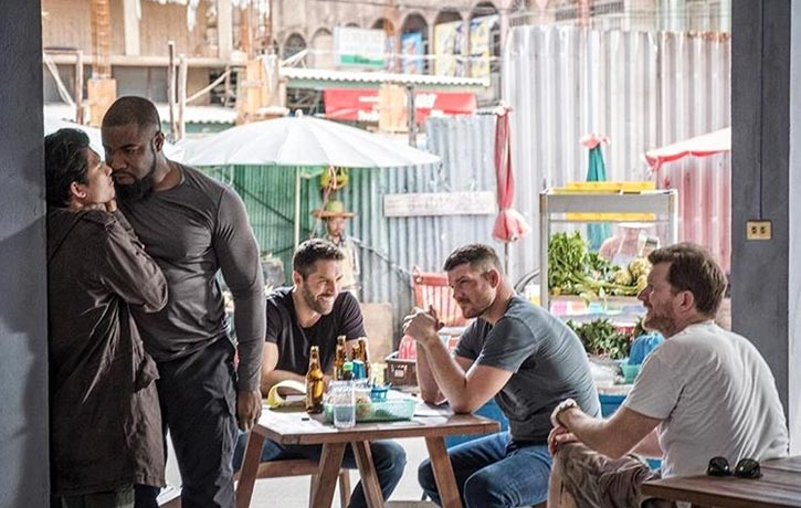 Jesse oversees Michael Jai White and Iko Uwais
