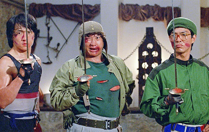 The Three Dragons Jackie Chan Sammo Hung and Yuen Biao