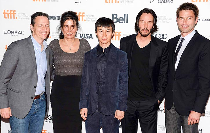 Tiger drops in with Keanu Reeves for the Toronto International Film Festival