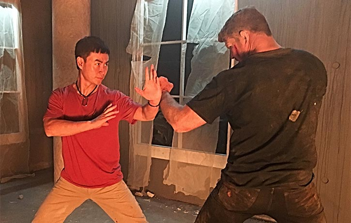 Tiger faces off with MMA champ Michael Bisping in Triple Threat