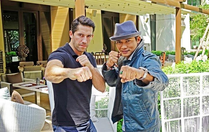 Tony and Scott Adkins are ready go toe-to-toe in Triple Threat