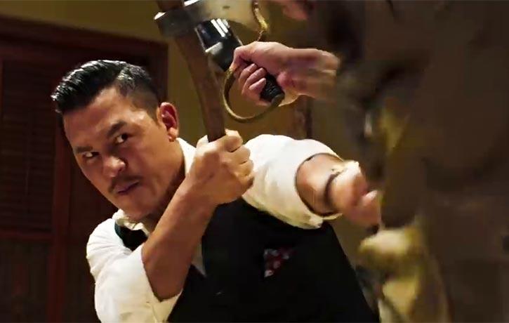 Chiu counters his opponent's assault