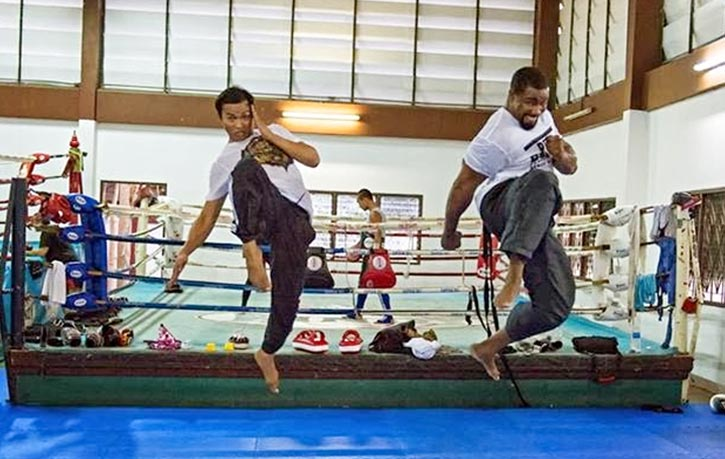 Mike and Tony Jaa prepping some big knees