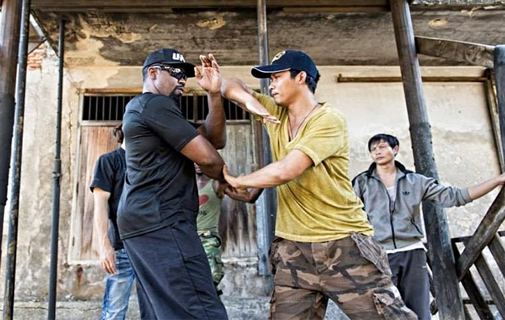 Mike previously faced off with Tony Jaa in 2015s Skin Trade