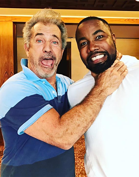 Mike with Mel Gibson Dragged Across Concrete film coming up