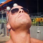 RVD takes in the sun at the beach