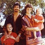 A young Shannon with her father Bruce mother Linda and brother Brandon