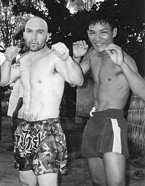 After leaving the Legion Dom studied the art of Burmese boxing