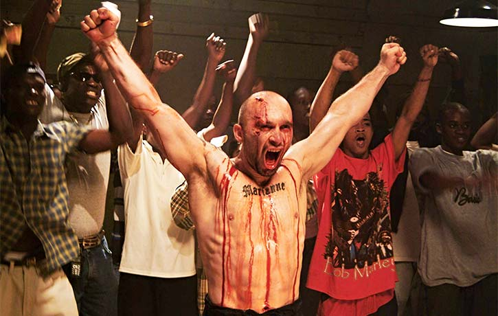 Dom stands triumphant in the ring in 2005s Pit Fighter