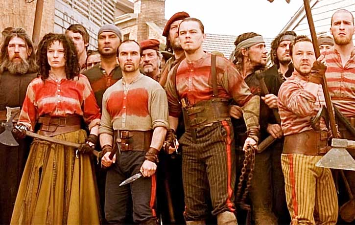 Dom with Leonardo DiCaprio in Gangs of New York