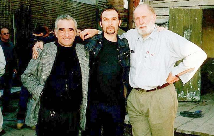 Dom with Martin Scorsese and Michael Hausman on Gangs of New York