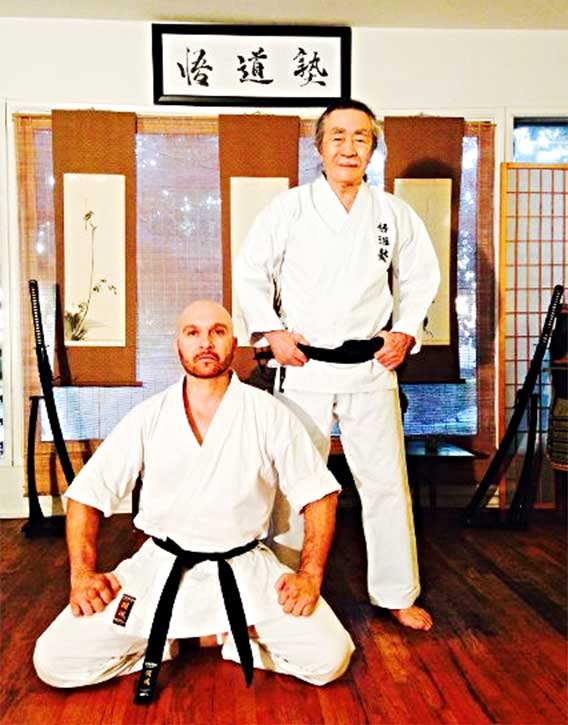 Dom with his mentor Sensei Gomyo