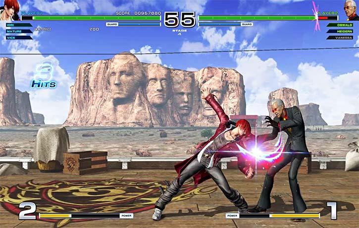 Iori Yagami uses his signature claw attacks