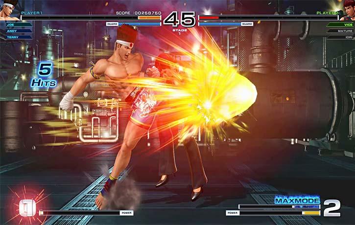 Joe Higashi finishes the fight with a Slash Kick