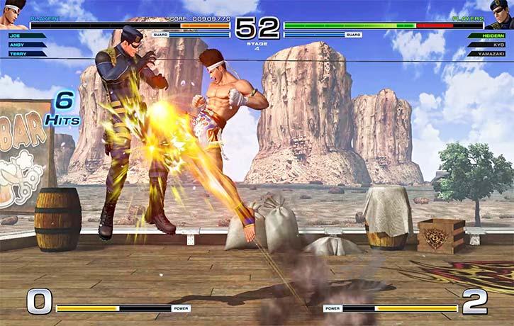 Joe Higashi fires his signature Tiger Kick