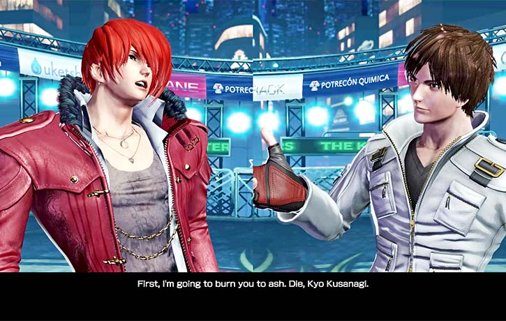 The rivalry between Kyo and Iori is as heated as ever