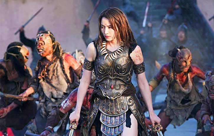 Yang Duan He leads her army into battle