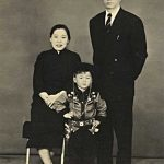 Young Jackie and his parents