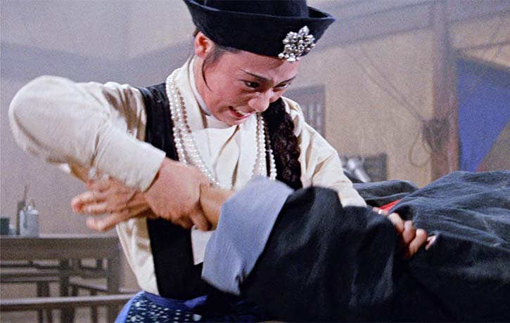Angela Mao Ying plays Hai Mu tan who happens to possess incredible martial arts skills