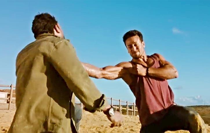 Khalid lands a knockout fist strike