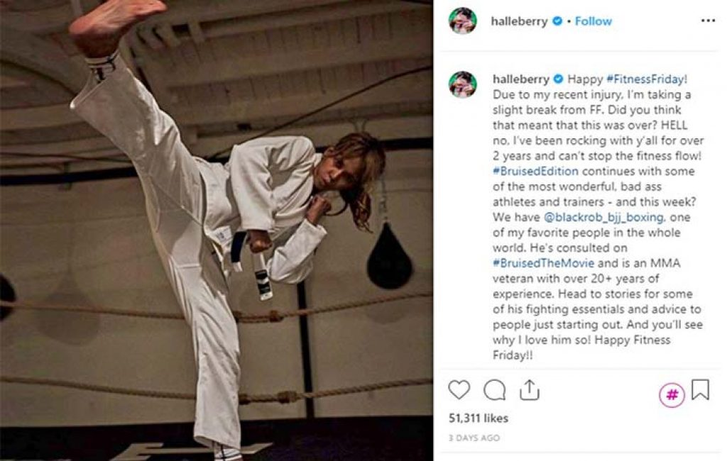 Halle Berry knows her kung fu!