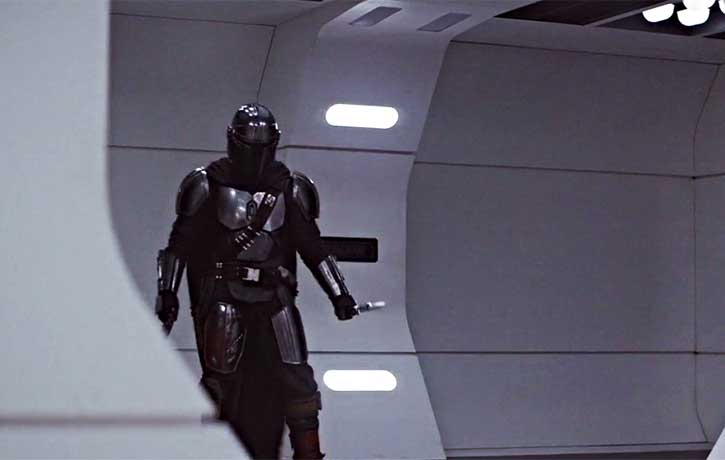 A Mandalorian with a knife is an army