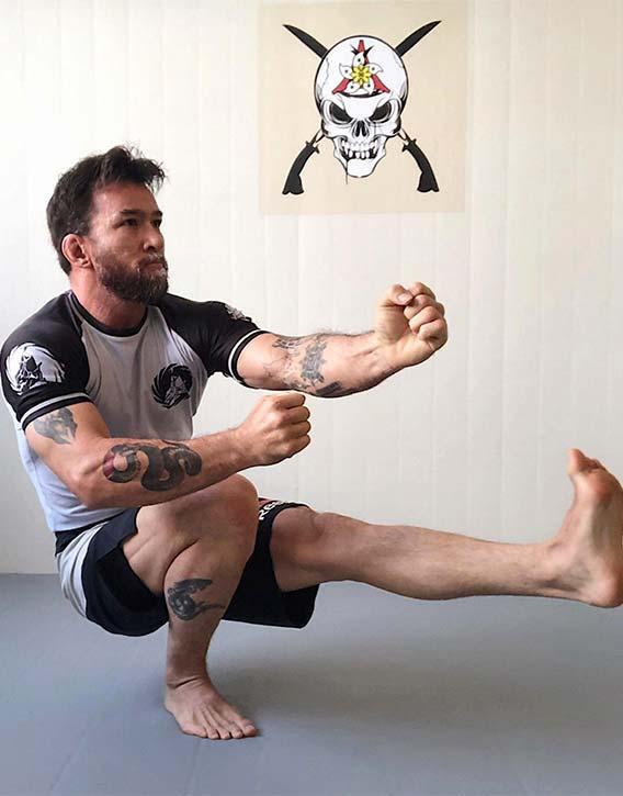 Chris strength and balance are extraordinary
