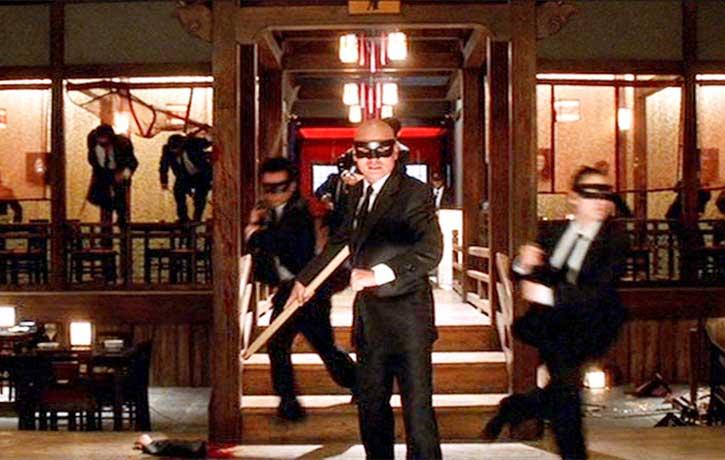 Gordon Liu plays Johnny Mo leader of the Crazy 88