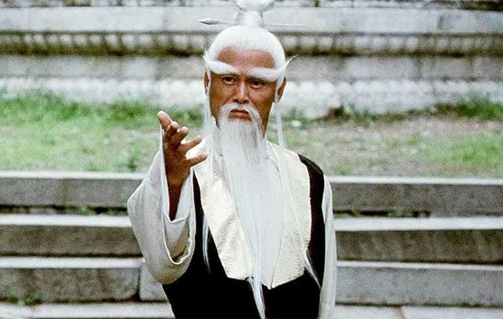 Gordon Liu stars as Pai Mei the white browed martial arts master