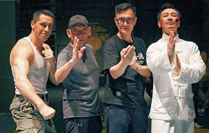 Scott Adkins with Yuen Woo Ping Wilson Yip co