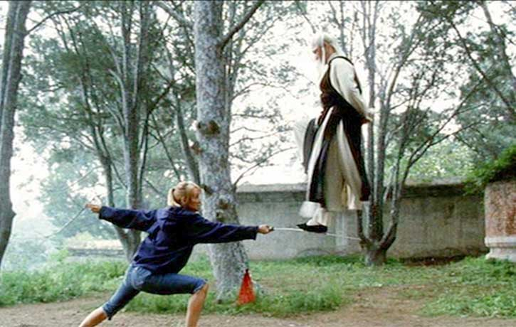 The Bride learns deadly sword skills from Pai Mei