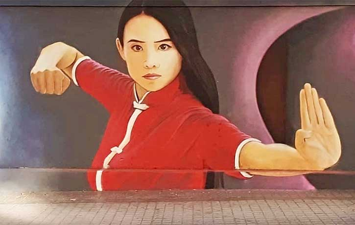 A Chilean fan was inspired to make this street art